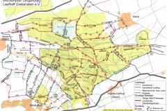 Lageplan des Kelzwer Walds mit Routen